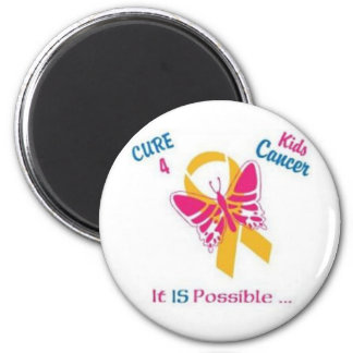 Cure for Kids Cancer, wear gold for my daughter in 2 Inch Round Magnet