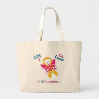 Cure for Kids Cancer, wear gold for my daughter in Tote Bag
