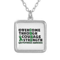 CURE...Gastroparesis Silver Plated Necklace