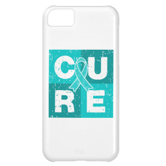 CURE Gynecologic Cancer Distressed Cube iPhone 5C Case
