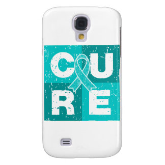 CURE Gynecologic Cancer Distressed Cube Galaxy S4 Cases
