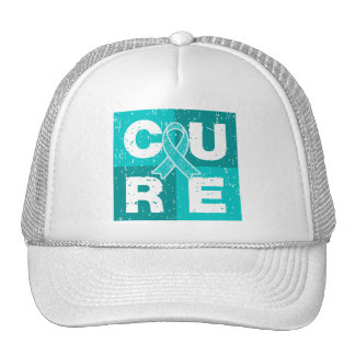 CURE Gynecologic Cancer Distressed Cube Trucker Hat