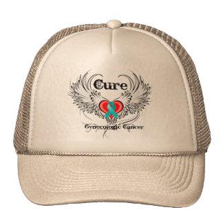 Cure Gynecologic Cancer Heart Tattoo Wings Trucker Hat