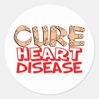 Cure Heart Disease Classic Round Sticker