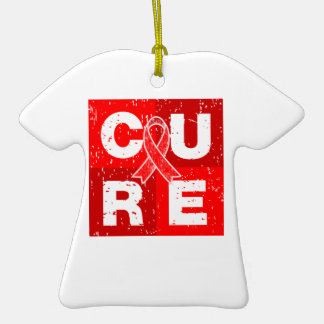 CURE Heart Disease Distressed Cube Ornaments