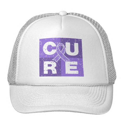 CURE Hodgkin's Lymphoma Distressed Cube Hats