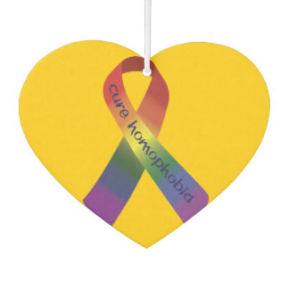 Cure Homophobia Awareness Ribbon Air Freshener