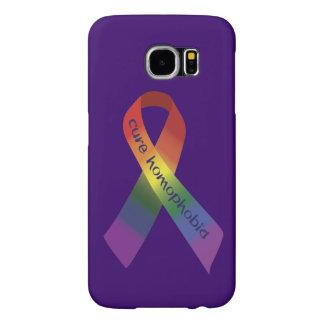 Cure Homophobia Awareness Ribbon Samsung Galaxy S6 Case