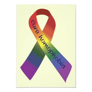 Cure Homophobia 5x7 Paper Invitation Card