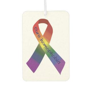 Cure Homophobia Ribbon Car Air Freshener