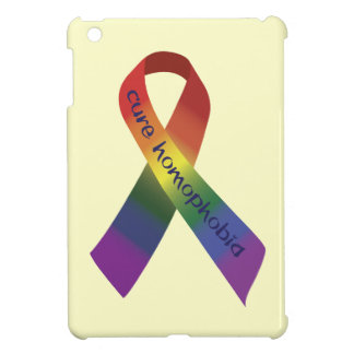 Cure Homophobia Ribbon iPad Mini Cover