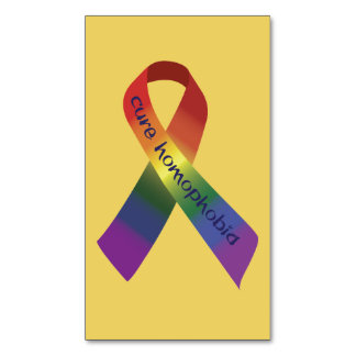 Cure Homophobia Ribbon Magnetic Business Card