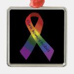 Cure Homophobia Ribbon Ornament