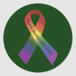 Cure Homophobia Ribbon Round Stickers