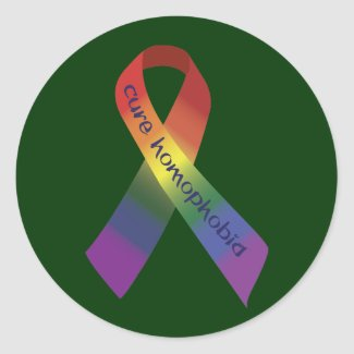 Cure Homophobia sticker