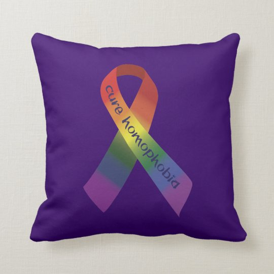 Cure Homophobia Throw Pillow