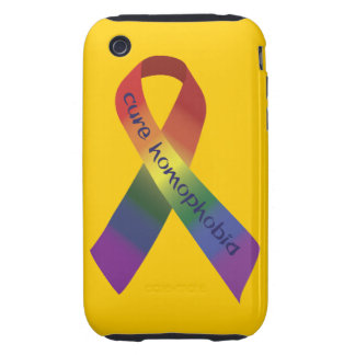 Cure Homophobia Tough iPhone 3 Cover