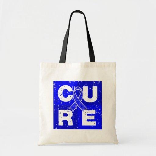 CURE Huntington's Disease Cube Tote Bags