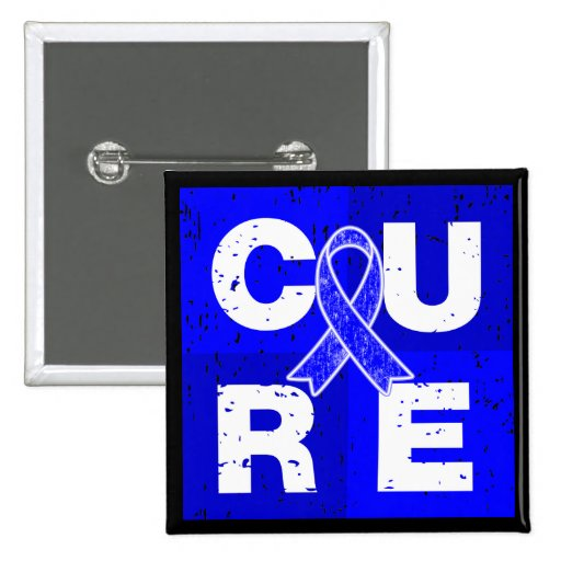 CURE Huntington's Disease Cube Pinback Button