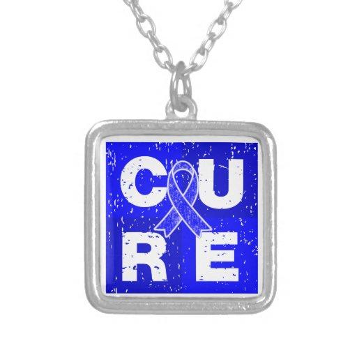 CURE Huntington's Disease Cube Pendants