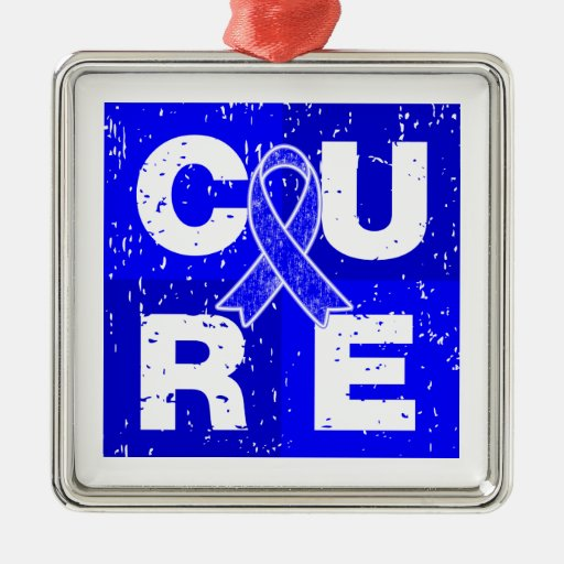 CURE Huntington's Disease Cube Christmas Tree Ornament