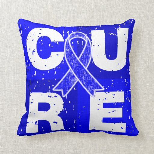 CURE Huntington's Disease Cube Pillow