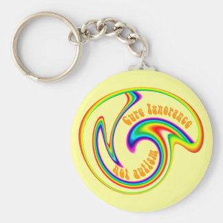Cure Ignorance Not Autism Basic Round Button Keychain