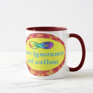 Cure Ignorance Not Autism Mugs