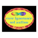 Cure Ignorance Not Autism Postcards