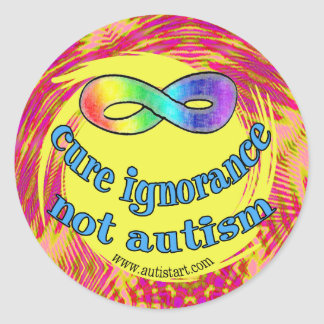 Cure Ignorance Not Autism Stickers