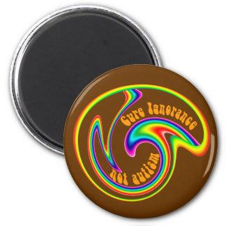 Cure Ignorance Swirl Magnets