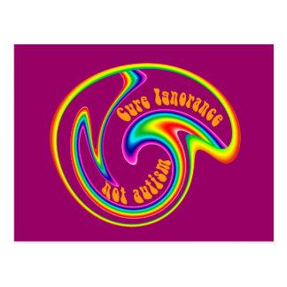 Cure Ignorance Swirl Postcards
