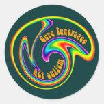 Cure Ignorance Swirl Stickers