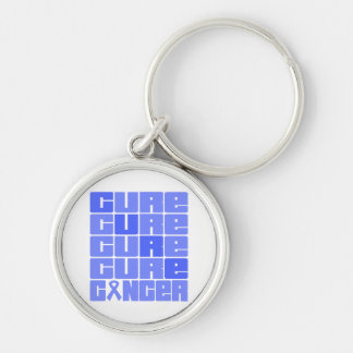 CURE Intestinal Cancer Collage Keychain