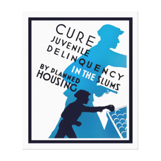 Cure Juvenile Delinquency in the Slums Canvas Print