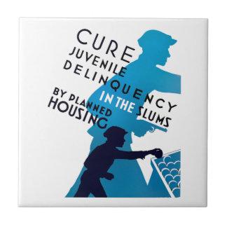 Cure Juvenile Delinquency in the Slums Ceramic Tile