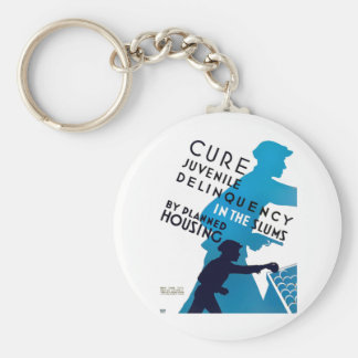 Cure Juvenile Delinquency in the Slums Keychain