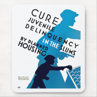 Cure Juvenile Delinquency in the Slums Mouse Pad