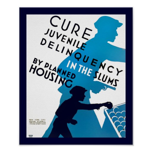 Cure Juvenile Delinquency in the Slums Poster