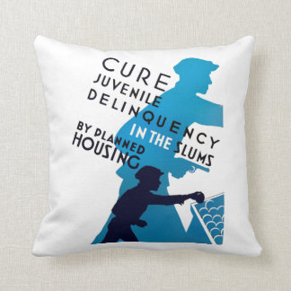 Cure Juvenile Delinquency in the Slums Throw Pillow