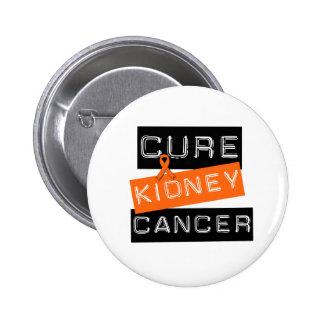 Cure Kidney Cancer (orange) 2 Inch Round Button