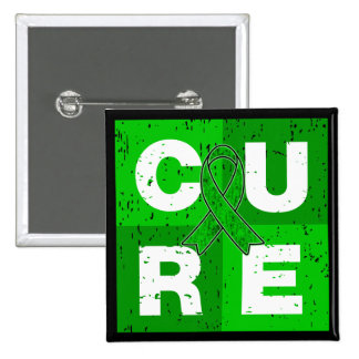 CURE Kidney Disease Distressed Cube Pinback Button