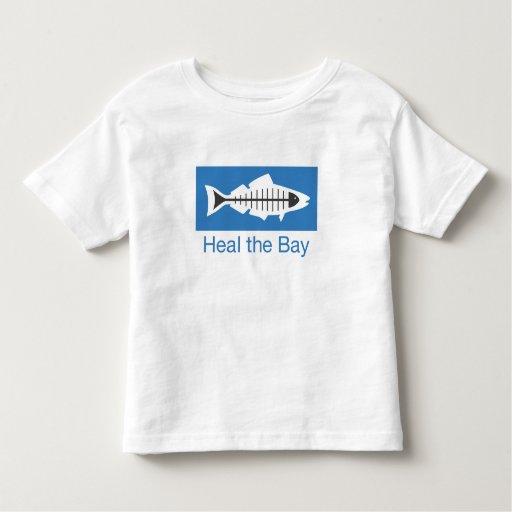 Cure la camiseta básica del logotipo de la bahía camisas