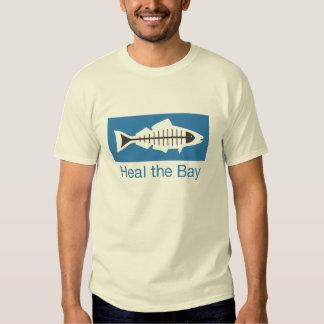 Cure la camiseta básica del logotipo de la bahía poleras