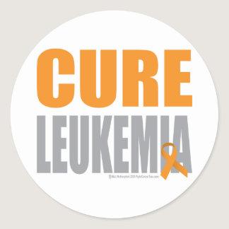Cure Leukemia Classic Round Sticker