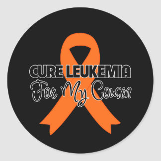 Cure Leukemia For My Cousin Round Sticker