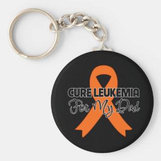 Cure Leukemia For My Dad Basic Round Button Keychain