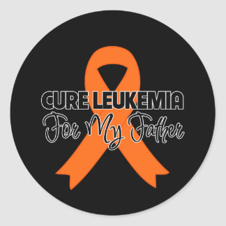 Cure Leukemia For My Father Round Stickers