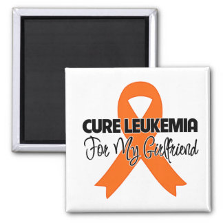 Cure Leukemia For My Girlfriend 2 Inch Square Magnet
