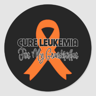Cure Leukemia For My Grandmother Round Sticker
